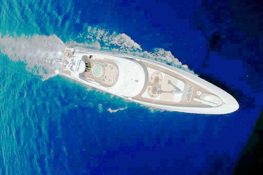 Andreas L Motor Yacht (ex Amnesia)  - Helicopter Shot