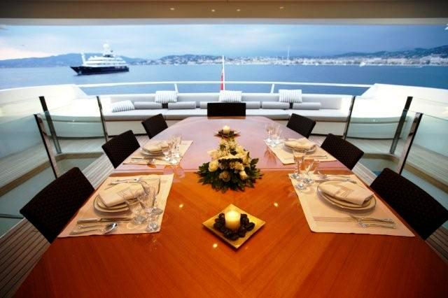 Arethusa -  Dining on Deck