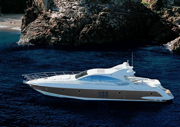 Azimut Yacht SQP -  At Anchor