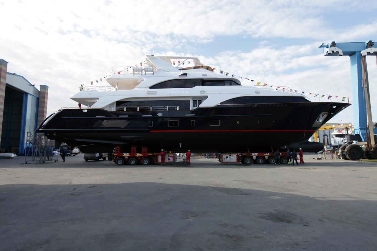 Benetti Classic 121 superyacht at launch