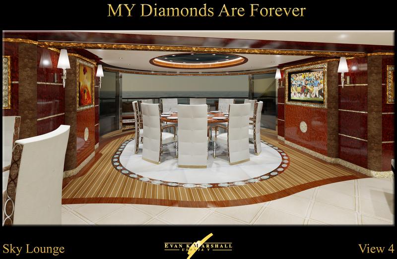 Benetti Diamonds Are Forever megayacht Sky Lounge