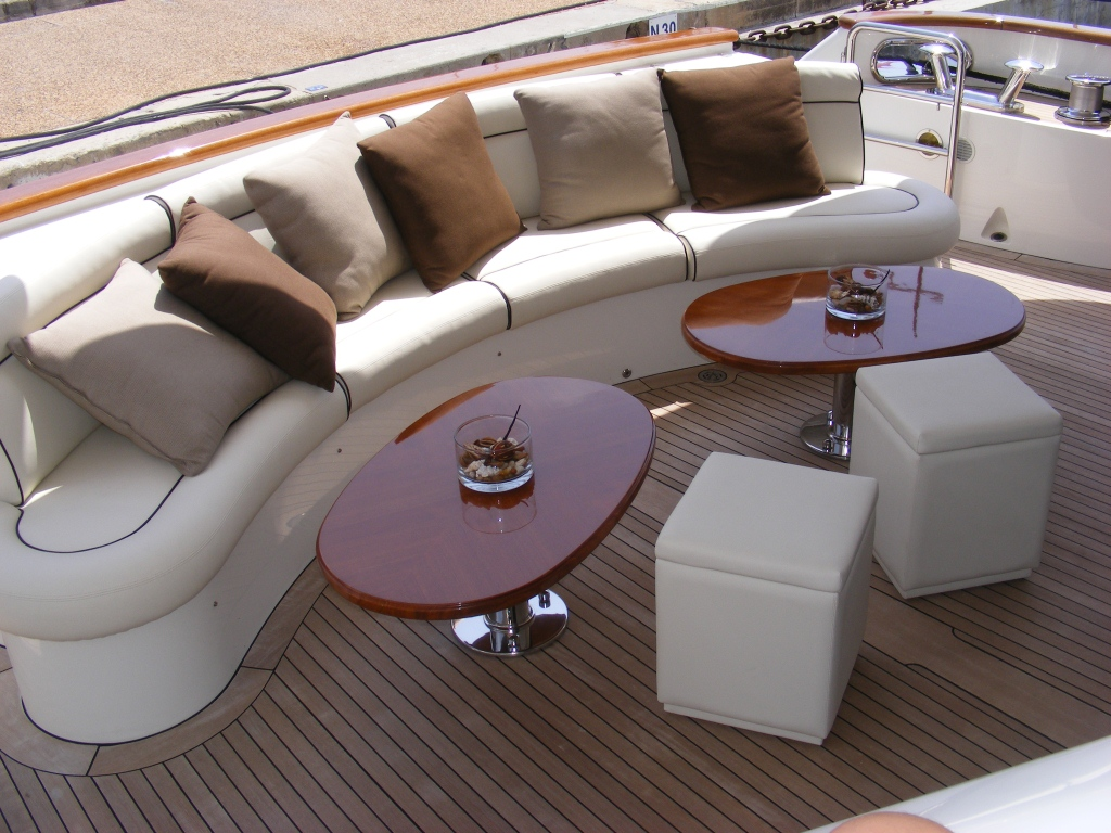 Benetti Yacht BACCHANAL -  Aft Deck Seating