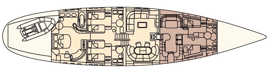 CELANDINE -  Lower Deck Layout