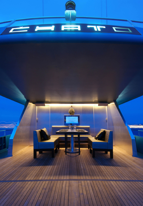 CHATO - Aft Deck Evening