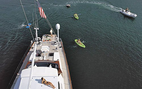 Caldera -  Aerial View of Deck and Toys