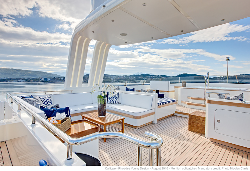 Calliope Yacht Bridge Deck - Photo Nicolas Claris