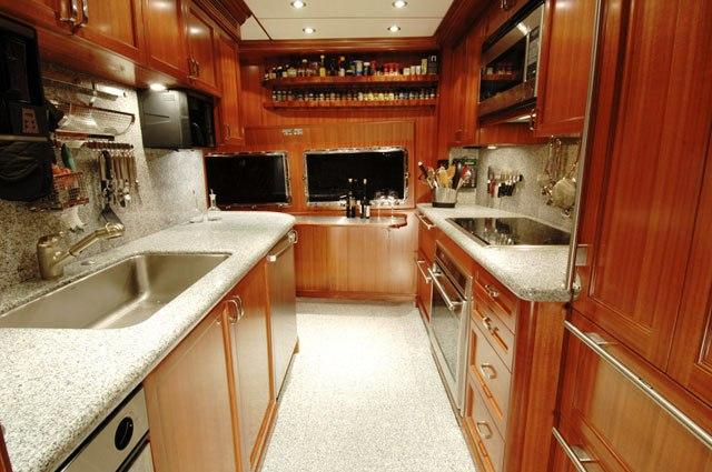CaryAli now VIVIERAE yacht -  Galley