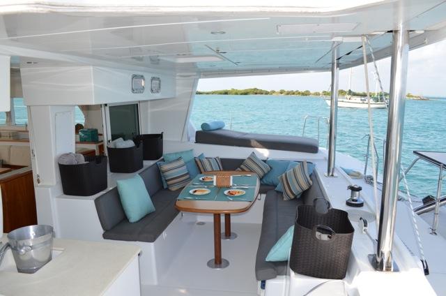 Catamaran AMURA - Aft Deck