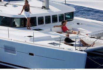 Catamaran DORIS -  Relaxing on the Trampolines