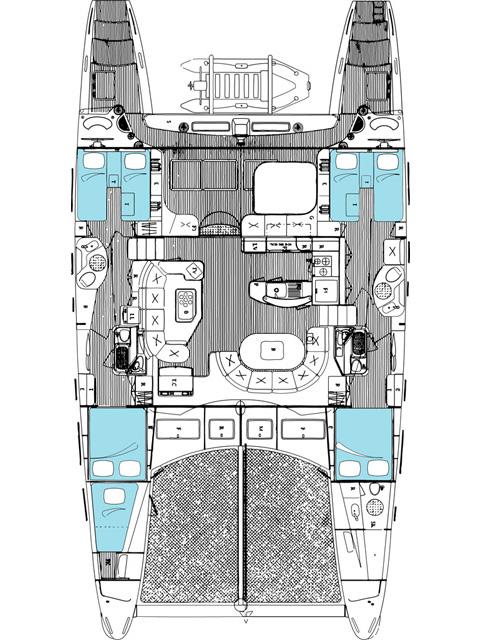 Catamaran FOLLIA -  Layout