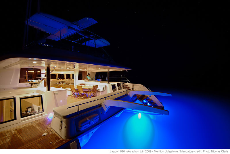 Catamaran GO FREE -  Aft Deck at Night
