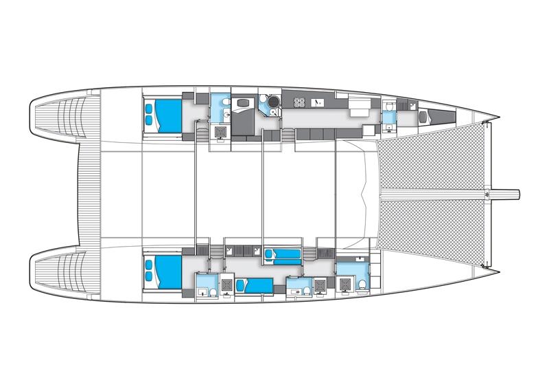 Catamaran LEVANT - Layout