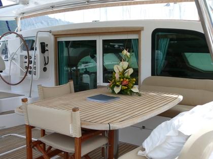 Catamaran SAGAPONACK -  Aft Deck