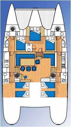 Catamaran SAGAPONACK -  Layout