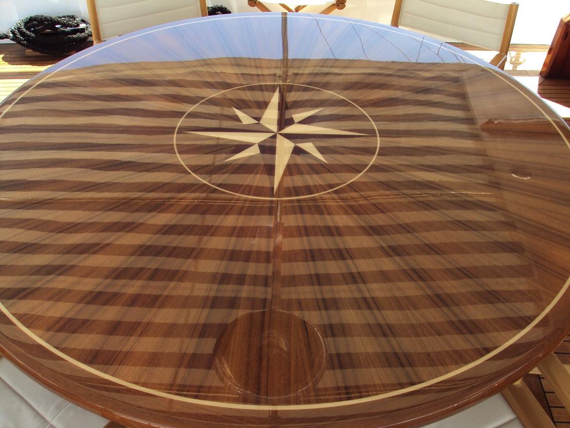 Chantella -  Aft Deck Table