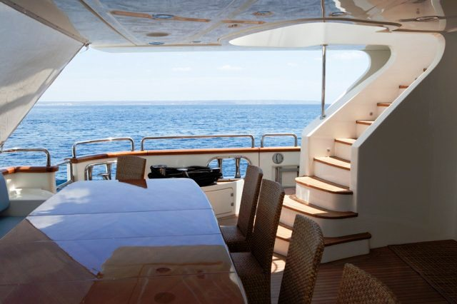 Charter yacht ITACA CLUB -  Aft Deck
