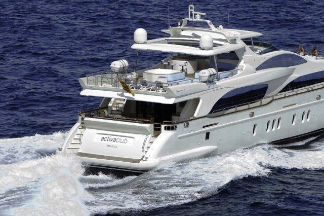 Charter yacht ITACA CLUB -  Aft View