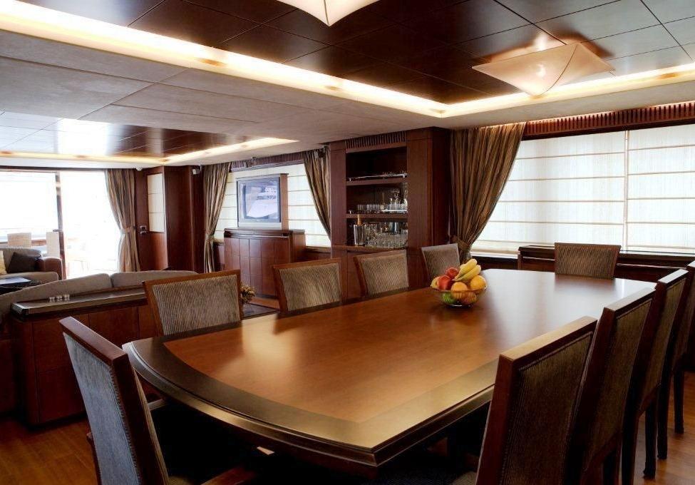 Charter yacht ITACA CLUB -  Formal Dining