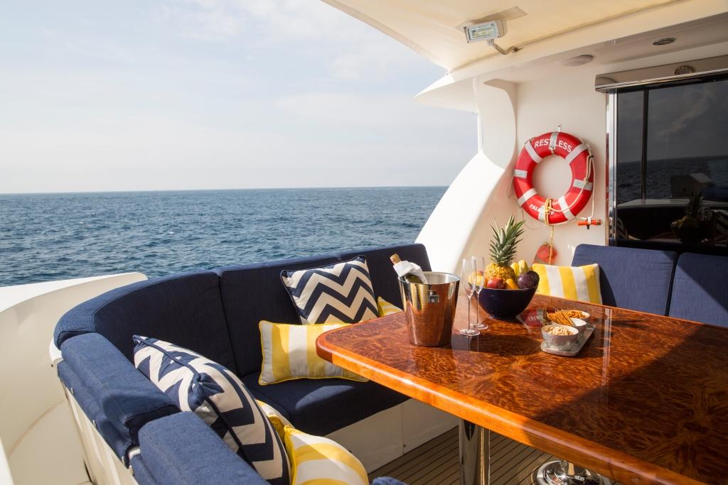 Charter yacht RESTLESS - Upper Deck