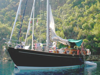 Classic Yacht ANITTA -  At Anchor