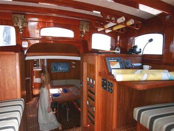 Classic Yacht ANITTA -  Pilothouse and lower Salon