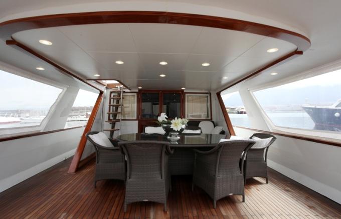 Classic Yacht HATHOR -  Aft Deck Dining