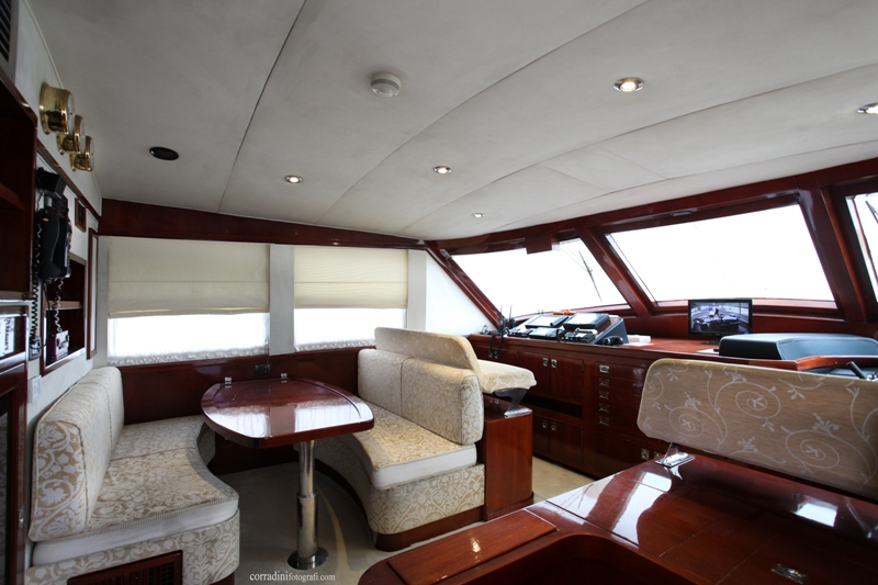 Classic Yacht HATHOR -  Helm and Dinette