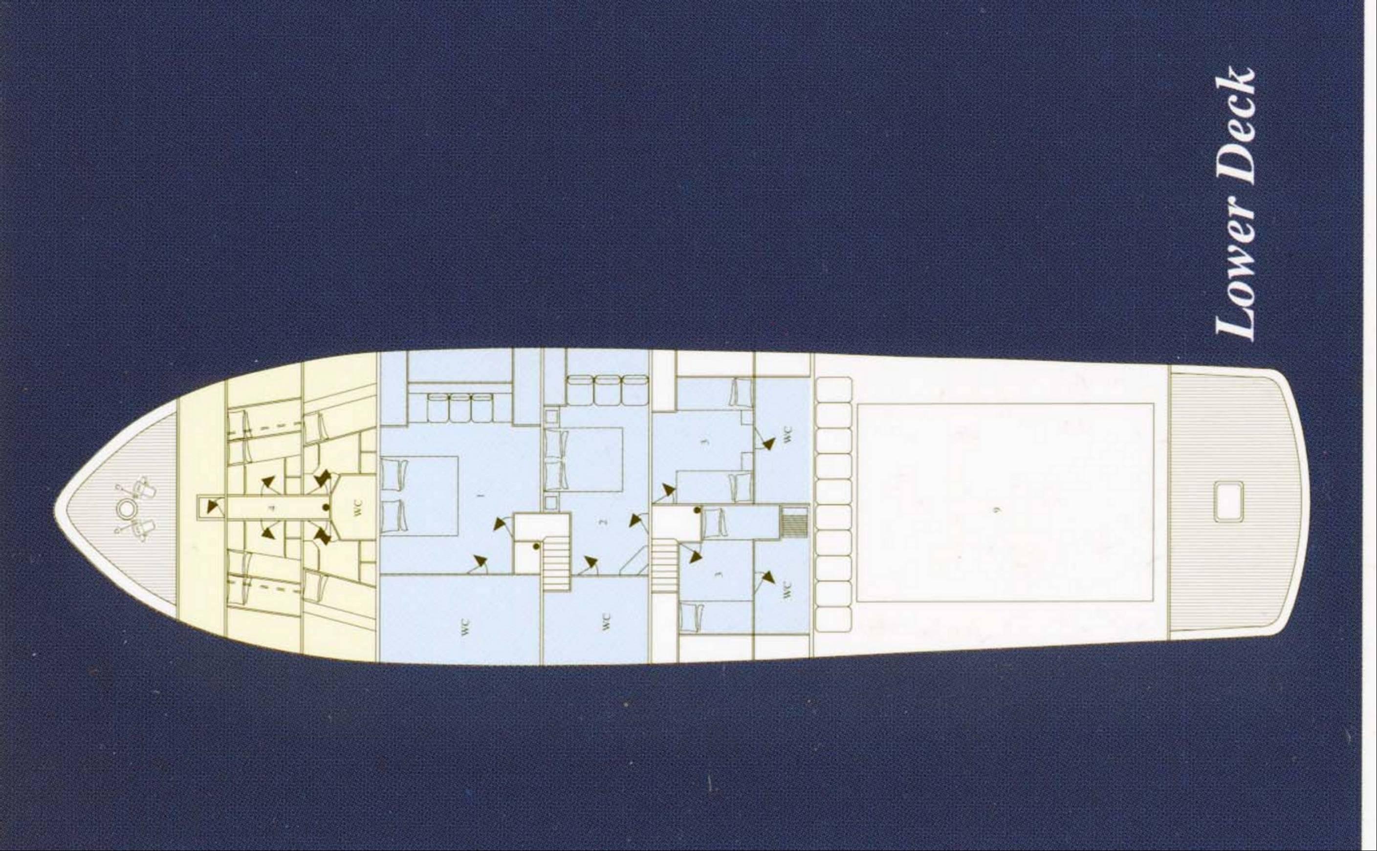 Classic Yacht NAFISA -  Layout