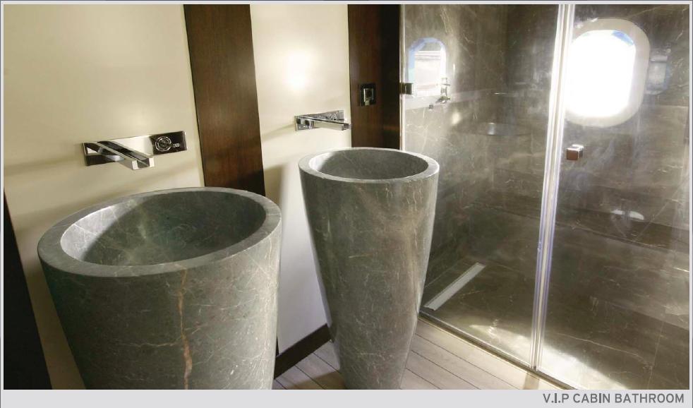 Cobra Yachts Superyacht Infinity - VIP cabin bathroom