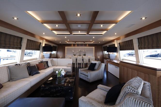 Couach 3700 Motor Yacht Arion Salon by Ken Freivokh