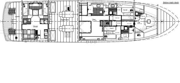 Darsea -  Below deck layout