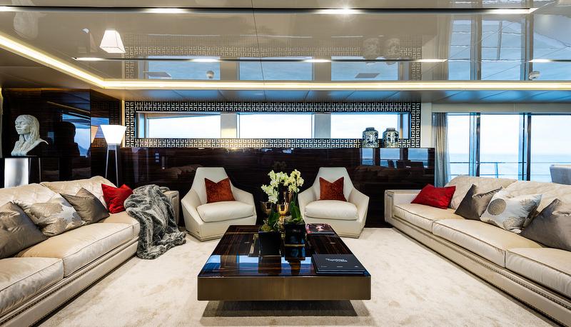 Flying Dragon superyacht - saloon - Image credit to AB Photodesign