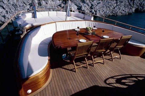 Gulet Eylul Deniz II (aka ED II) -  Aft Deck Dining