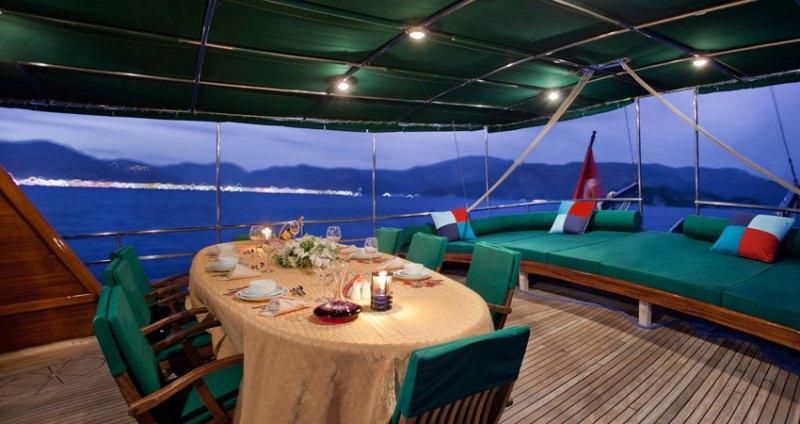 Gulet S DOGU -  Aft Deck Dining