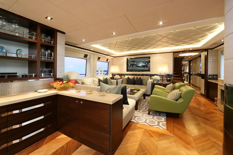 Heesen yacht AURELIA - Salon view