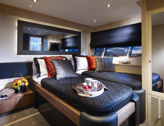 High Energy Yacht Guest Cabins
