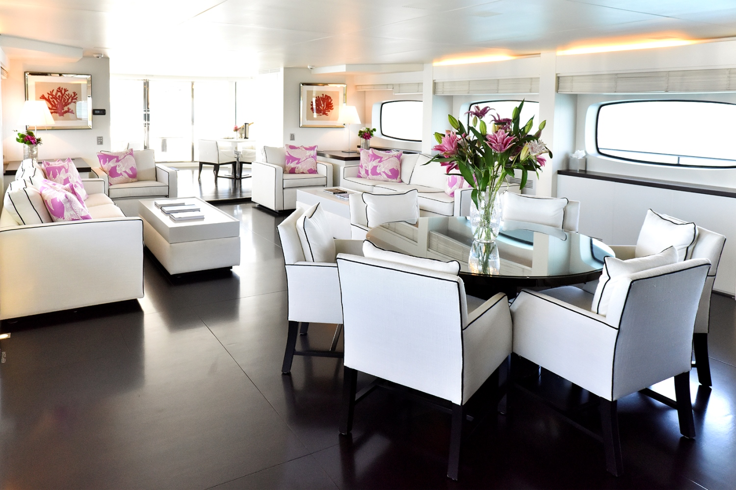 INFINITY PACIFIC - Main Salon looking aft