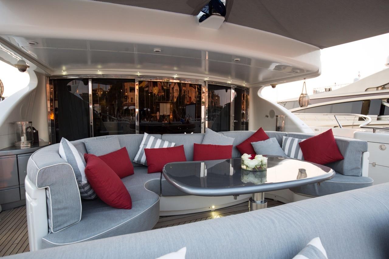 ISA Motor yacht SAMJA - Aft deck dining