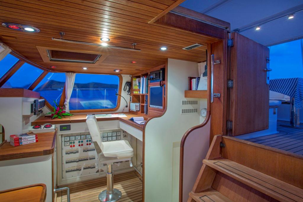 JUPITER Sailing yacht - Navigation station