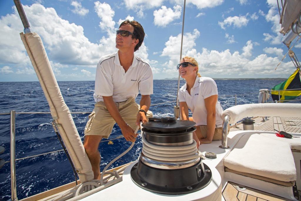 JUPITER Sailing yacht - Sail handling