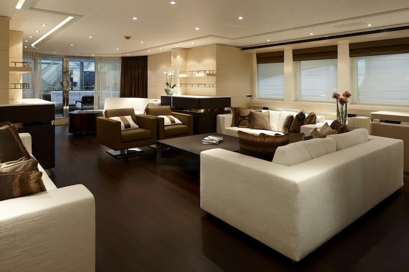 Lady L yacht interior