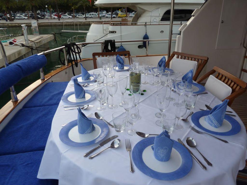 Lady Tatiana of London -  Aft Deck Dining