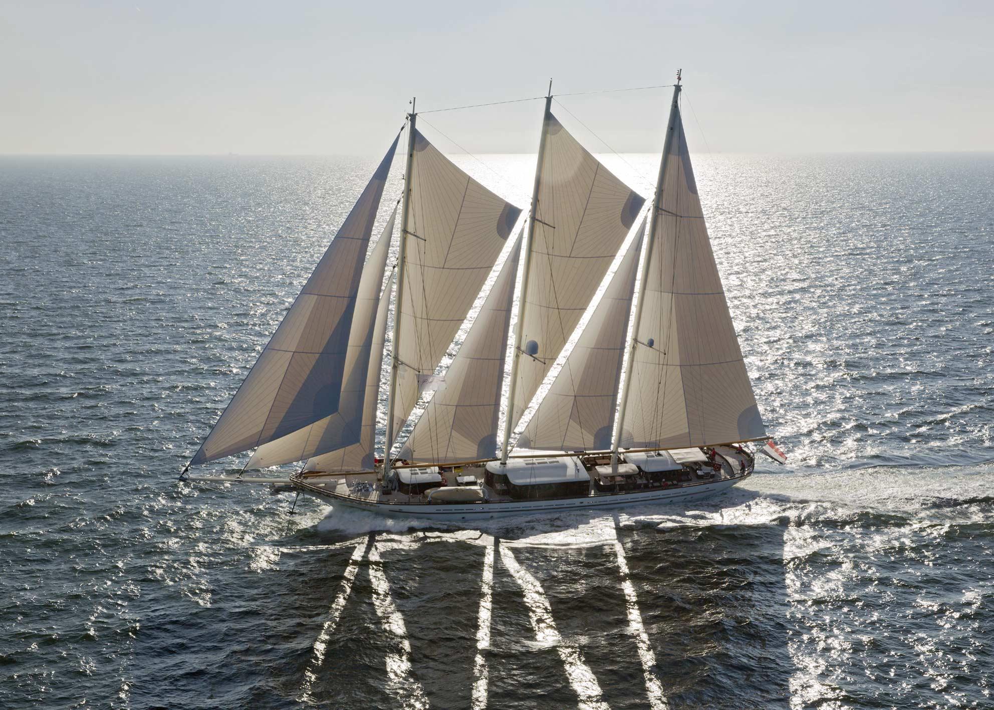 Luxury mega yacht Mikhail S. Vorontsov designed by Ken Freivokh