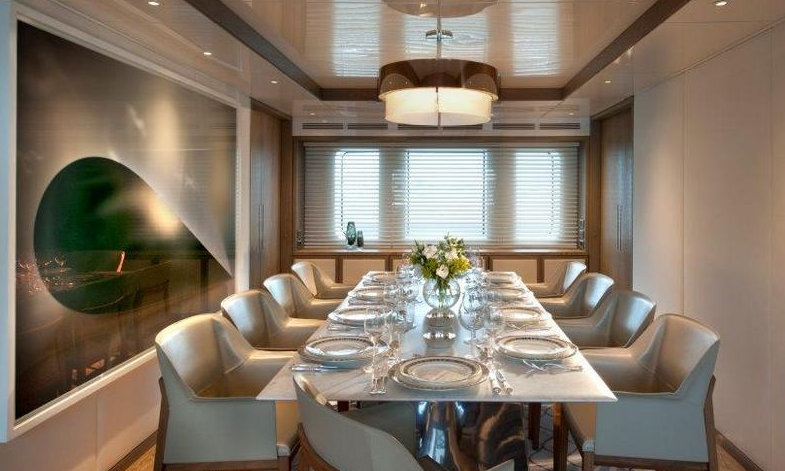 Luxury motor yacht ORIENT STAR - Formal dining