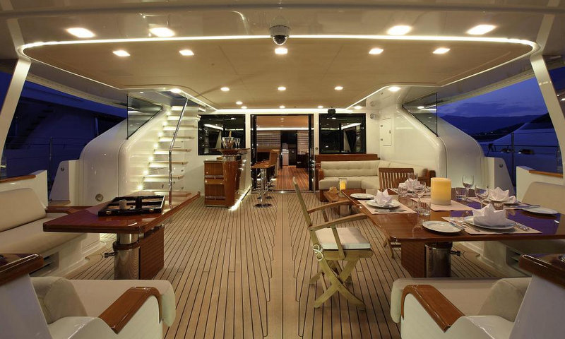 Luxury yacht Clan VIII - Exterior by night