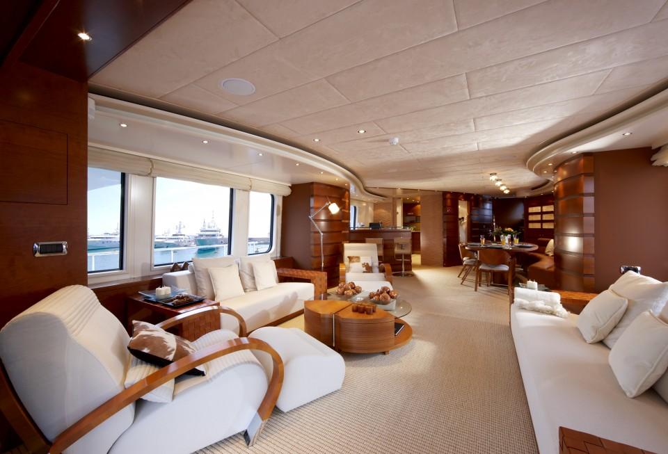 Luxury yacht Sofia II - Salon
