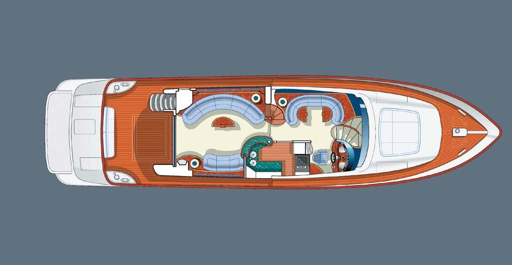MOTOR YACHT IRIS - Main deck layout