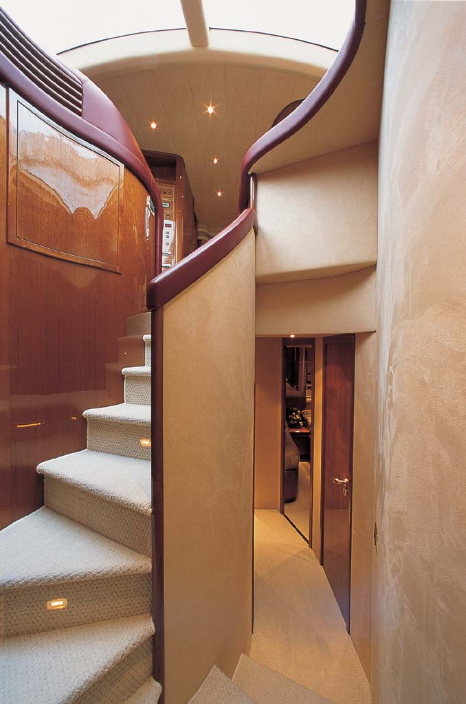 MOTOR YACHT IRIS - Stairs to guest cabins