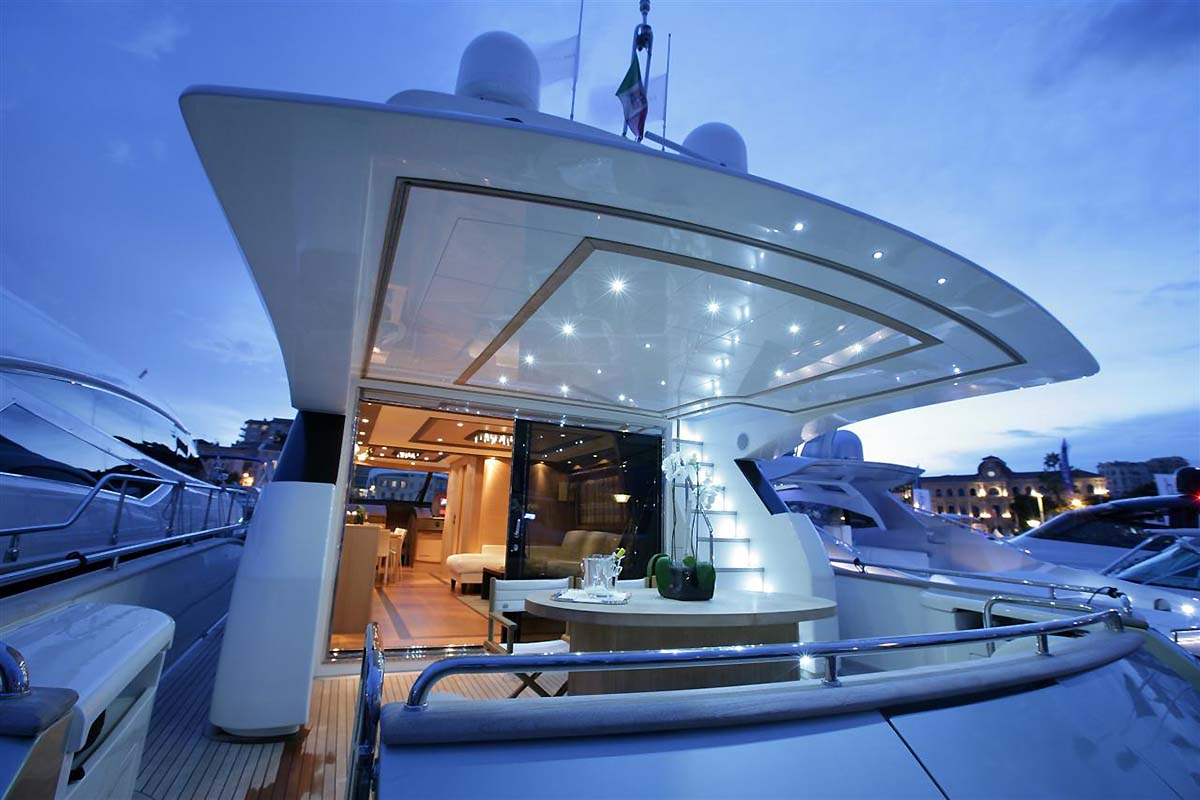 MY BLUE ANGEL - Aft deck by night