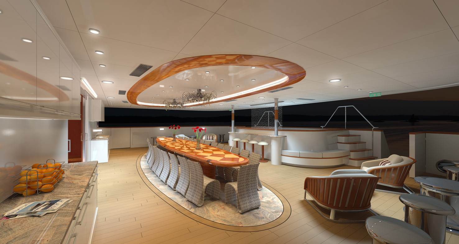 MY LEGEND - Aft deck by night rendering
